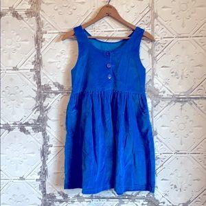Blue 90s girls corduroy dress